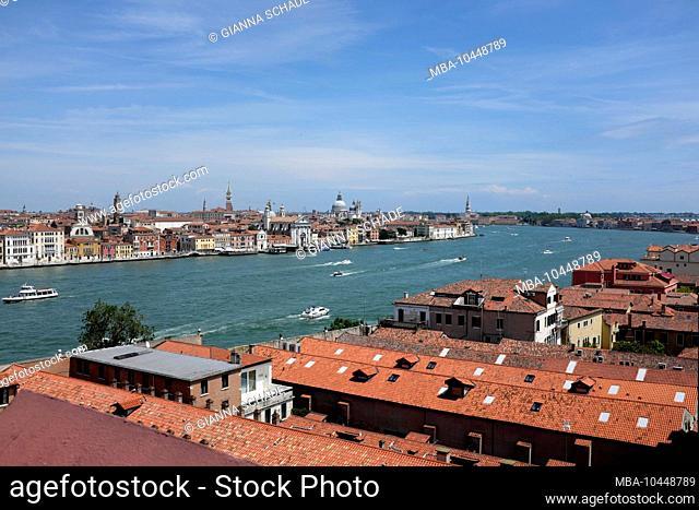 Giudecca Island in front of Venice - Hilton Hotel Skyline Rooftop Bar