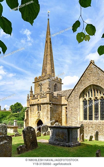 St Michaels and All Angels parish church, Stanton, Cotswolds Village, UK