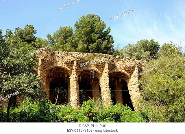 Antoni Gaudis Park G�ell in Barcelona Spain
