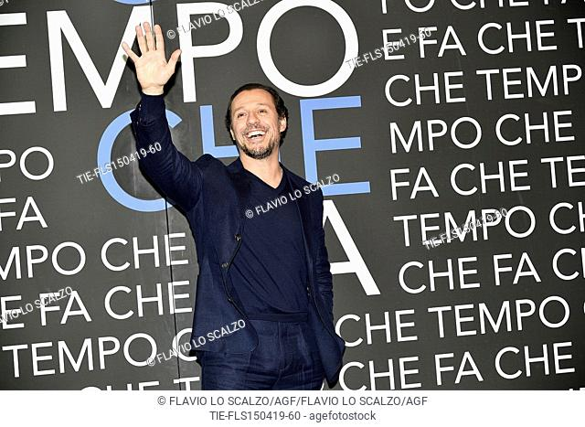 Stefano Accorsi  during the tv show Che tempo che fa, Milan, ITALY-14-04-2019