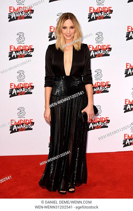 Three Empire Awards held at the Roundhouse - Arrivals. Featuring: Joanne Froggatt Where: London, United Kingdom When: 19 Mar 2017 Credit: Daniel Deme/WENN