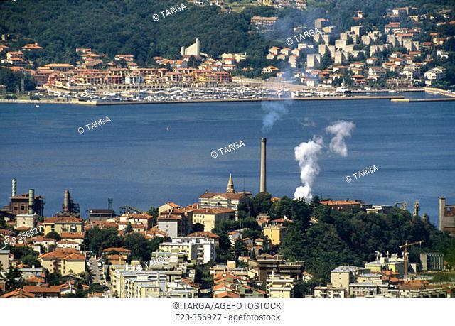 Overview on Trieste. Friuli-Venezia Giulia, Italy
