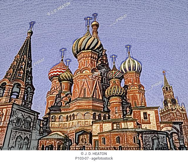 Russian federation. Moscow. St. Basils cathedral
