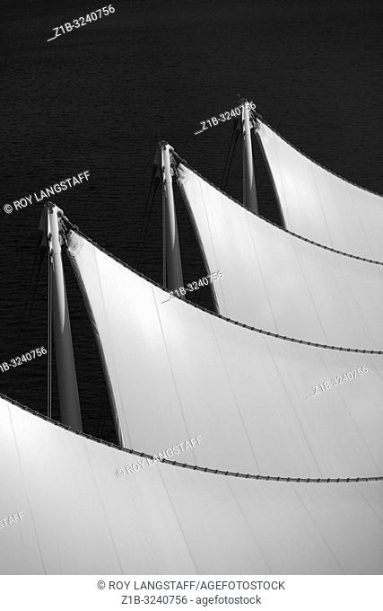 Abstract image of the sail roof of the Vancouver Convention Centre