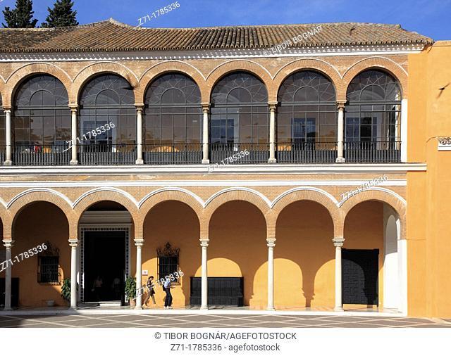 Spain, Andalusia, Seville, Alcazar, Patio de la Monteria