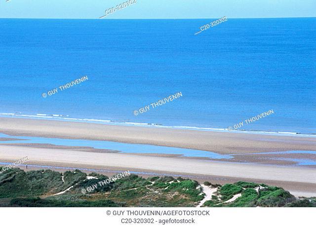 France. Calvados. War landing beaches. Colleville-sur-Mer. Omaha beach
