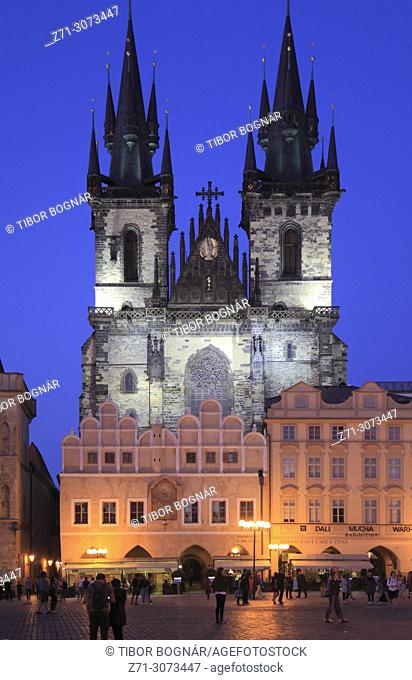 Czech Republic, Prague, Old Town Square, Our Lady of Tyn Church,