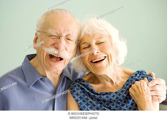 Senior couple posing for portrait