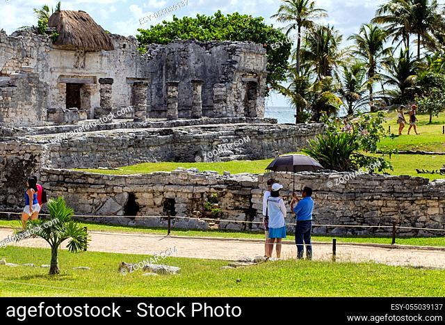Mayan ruins of Tulum, Tulum Pueblo Mexico March 20 2017 nature