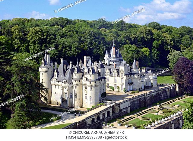 France, Indre et Loire, Loire valley listed as World Heritage by UNESCO, Rigny Usse, castle of Usse which has inspired the french author Charles Perrault for...