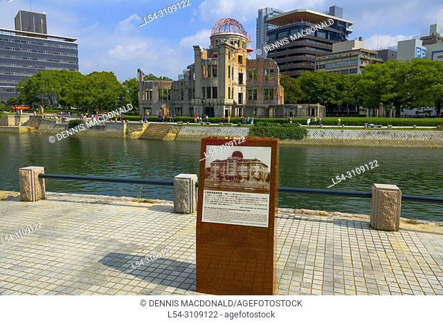 Hiroshima Peace Memorial Genbaku Dome Atomic Bomb Japan Asia