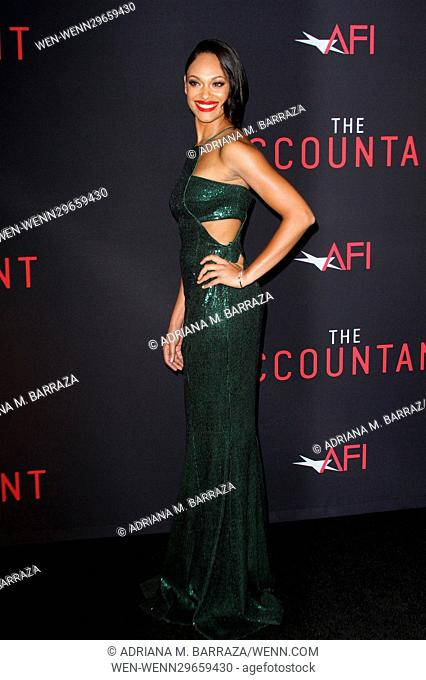 The Accountant Los Angeles World Premiere held at the TCL Chinese Theatre Featuring: Cynthia Addai Robinson Where: Los Angeles, California