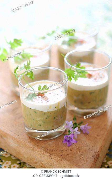 Eggplant Caviar coconut verrines