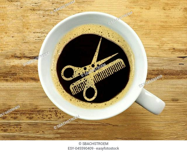 Coffee at the hairdresser - extra service for the waiting period