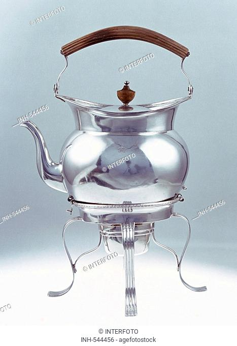 household, household appliances, kettle, silver with wooden handle, Augsburg, circa 1800, Resisdenr, Munich, appliance, Germany, Bavaria, 18th/19th century