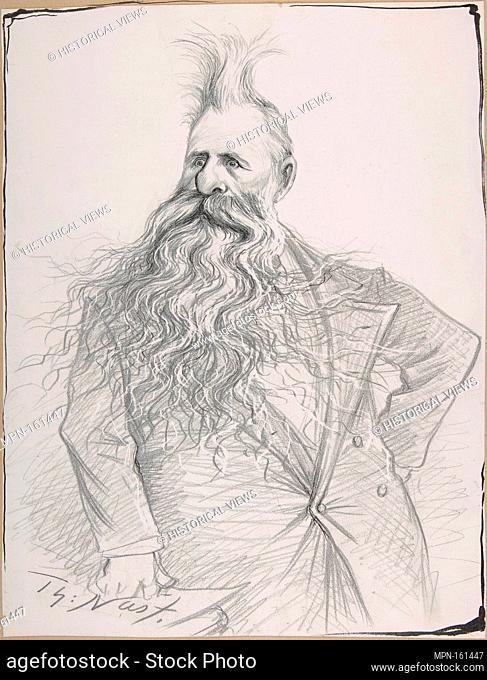 Senator Dolph of Oregon (Joseph Norman Dolph). Artist: Thomas Nast (American (born Germany), Landau 1840-1902 Guayaquil); Sitter: Portrait of Joseph Norton...