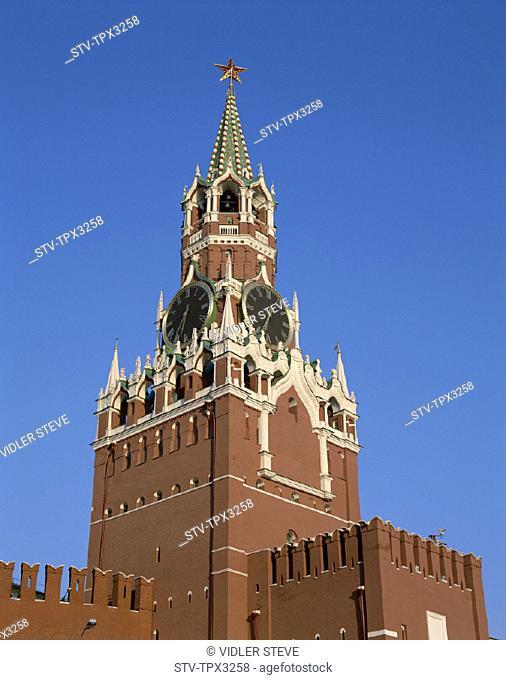 Holiday, Kremlin, Landmark, Moscow, Russia, Saviour, Spasskaya, Tourism, Tower, Travel, Vacation