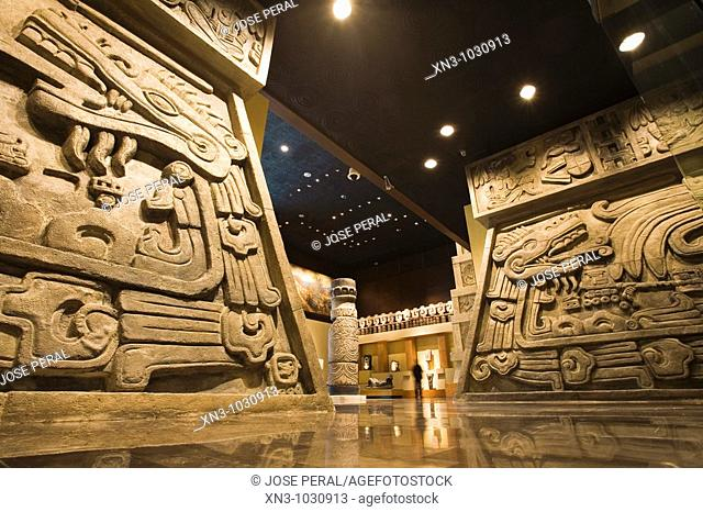 Reconstruction of the Quetzalcoatl Piramid in Xochicalco, National Museum of Anthropology, Mexico City, Mexico