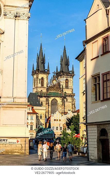 Staromestske Namesti, old City square, Prague, Czech Republic