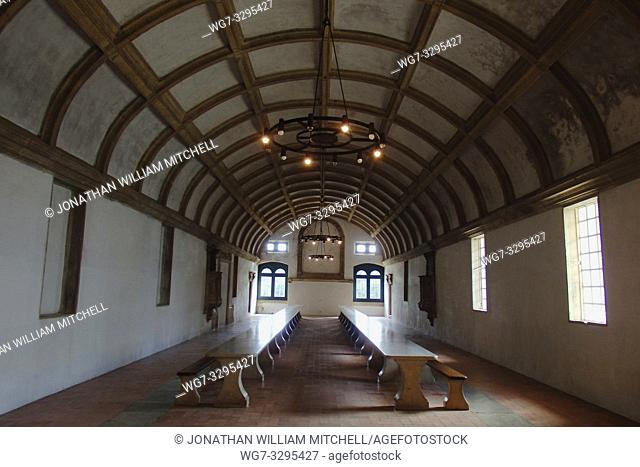 PORTUGAL Tomar -- 2015 -- The Refectory of the Convento de Cristo - the one-time headquarters of the Knights Templar in Tomar Portugal -- Picture by Jonathan...