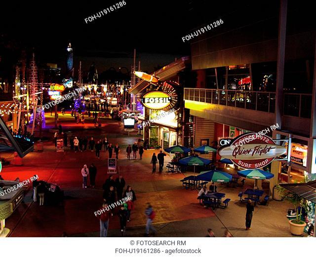 Orlando, FL, Florida, Universal Orlando Resort, Universal City Walk, evening