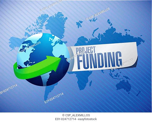 Project Funding international sign concept