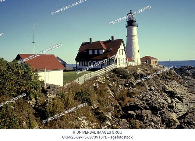 Maine, Portland Head. Lighthouse