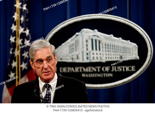 Special Counsel Robert Mueller speaks at a press conference at Department of Justice in Washington, District of Columbia on Wednesday, May 29, 2019