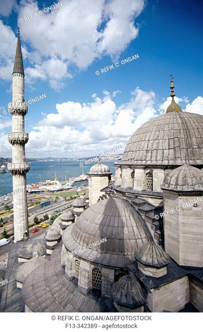 View from new mosque minaret. Istanbul. Turkey