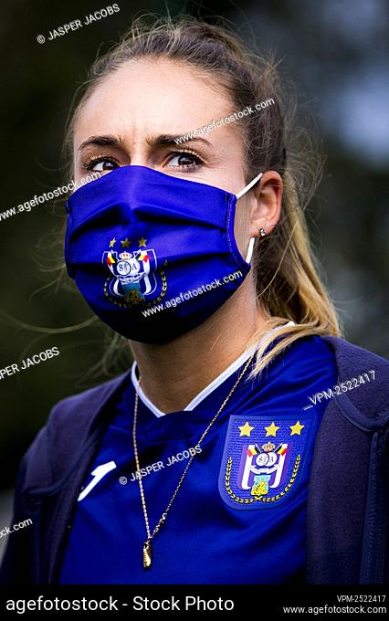Anderlecht new player Tessa Wullaert pictured during a press conference of RSC Anderlecht Women to present their latest transfer