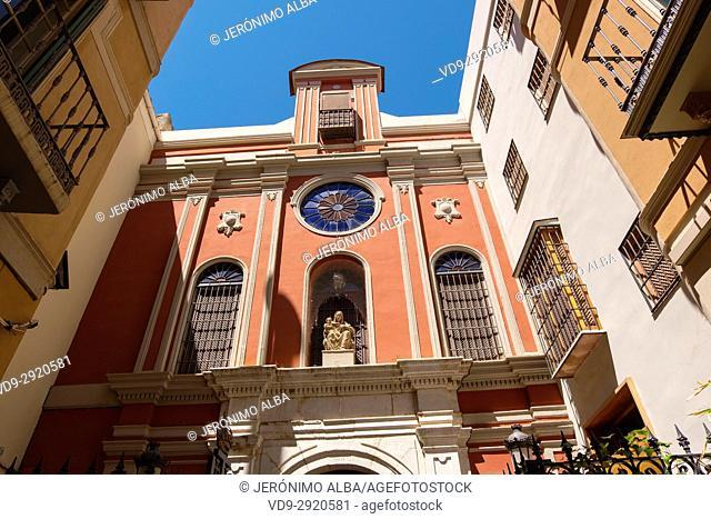 Iglesia de Santa Ana, Cistercian Abbey, Málaga, Costa del Sol. Andalusia, Southern Spain Europe