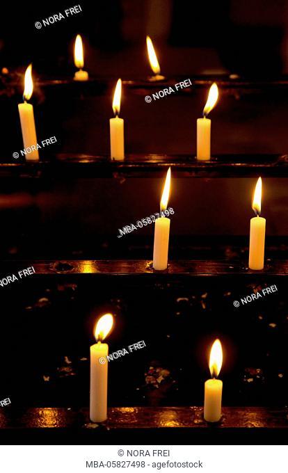 Church, candles, devotion, memory