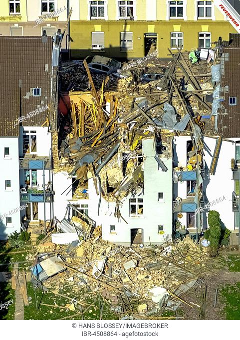 Explosion in a three-story apartment building, Teutonenstrasse, Dortmund, Ruhr district, North Rhine-Westphalia, Germany