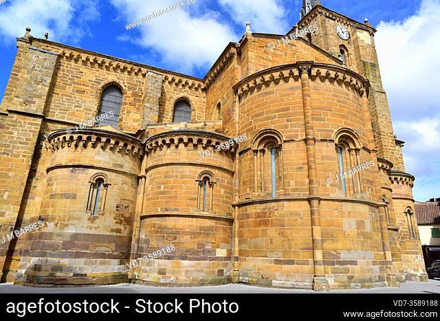 Benavente, Santa Maria del Azogue church (romanesque and gothic 12-16th centuries). Apses. Zamora province, Castilla y Leon, Spain