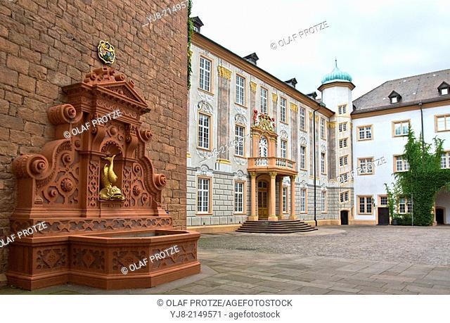 Entrance of Schloss Ettlingen Baden Wuerttemberg in Southern Germany