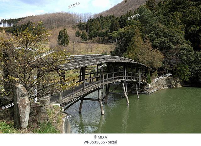 Taiko Bridge of Yuge Shrine, Uchiko, Ehime, Japan