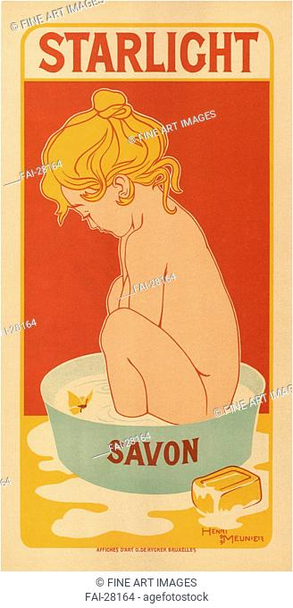 Starlight Savon by Meunier, Henri Georges (1873-1922)/Colour lithograph/Art Nouveau/1899/Belgium/Private Collection/82x40/Poster and Graphic...