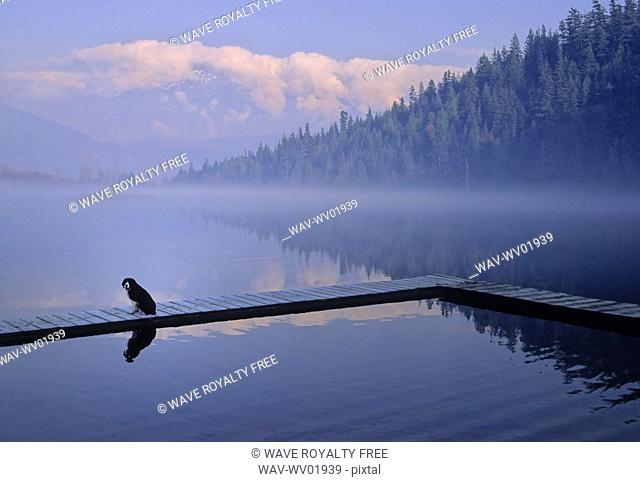 One Mile Lake, near Pemberton, BC in early morning mist