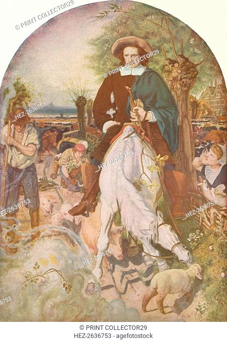 'Cromwell on His Farm', 1874, (1918). Artist: Ford Madox Brown