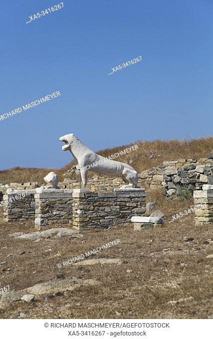 Naxian Lions, Delos Island, UNESCO World Heritage Site, Cyclades Group, Greece