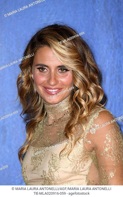 Angelica Russo, wife of Gabriele Muccino during the red carpet of film L'Estate addosso at 73rd Venice Film Festival, Venice, ITALY-01-09-2016