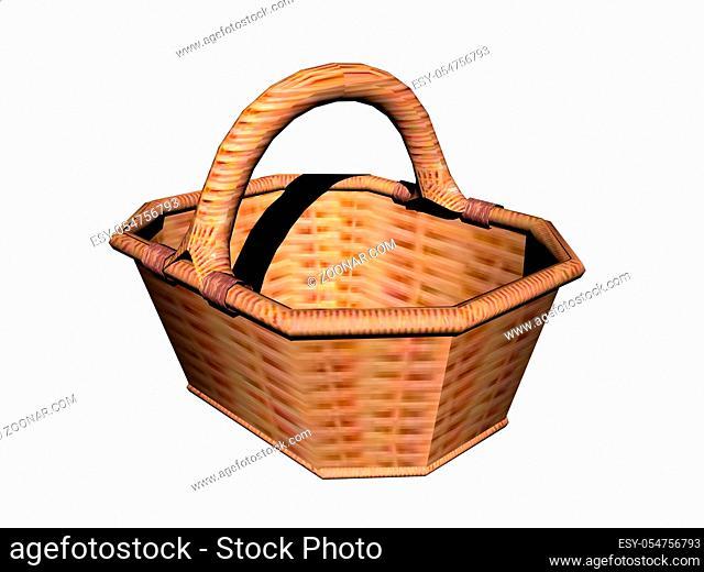 brauner Weidenkorbes zum Einkaufen