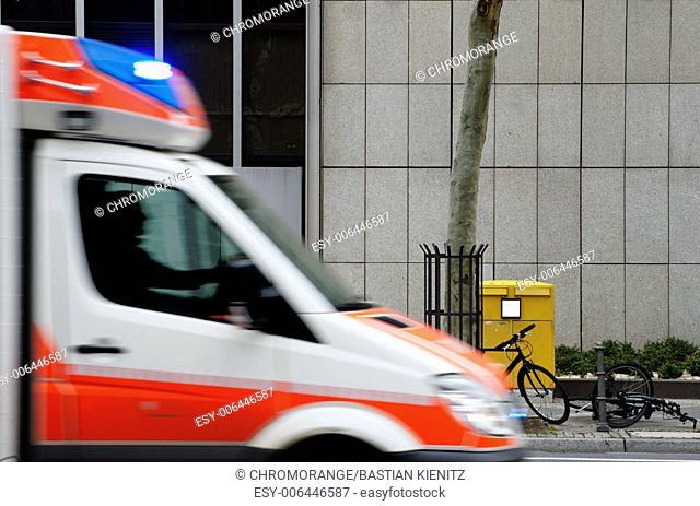 Ambulance in use