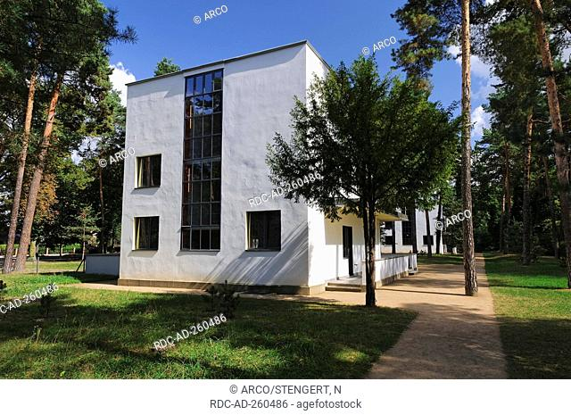Bauhaus Dessau Meisterhaus Stock Photo Picture And Rights