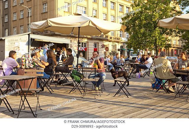 Czech Republic, Prague - Outdoor Street Restaurant Sestak Dejvice
