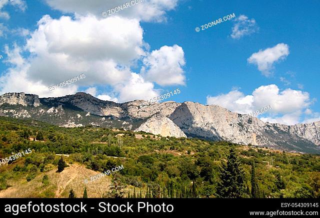 Beautiful mountain landscape in Crimea Ai-Petri