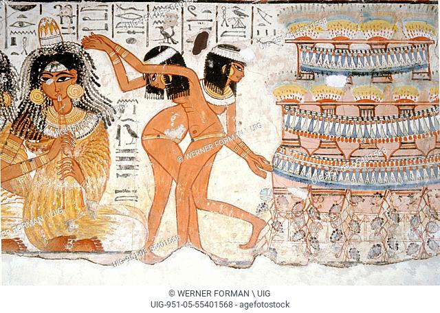 Part of a banquet scene from the tomb of Nebamun