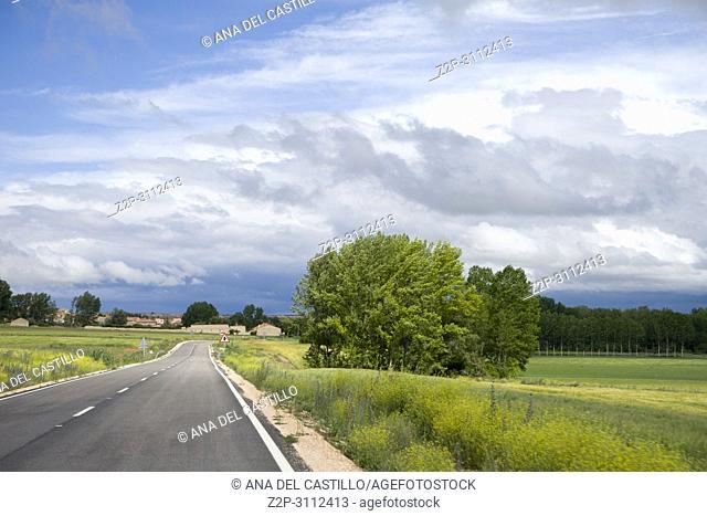 Castile Leon landscape springtime