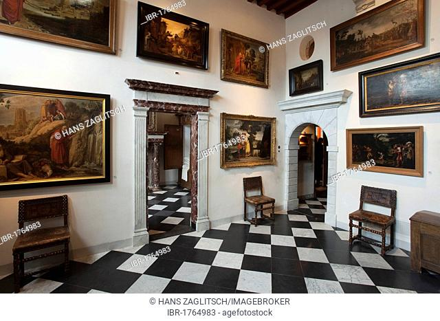 Entrance hall, lobby, Rembrandt House museum, Amsterdam, Holland, Netherlands, Europe