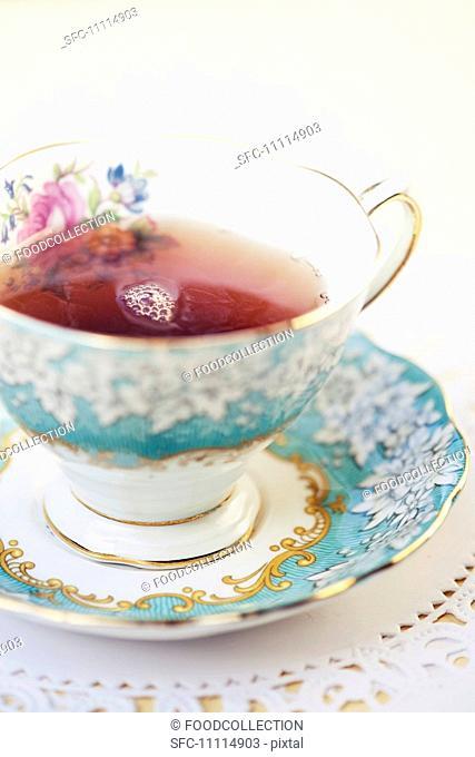 Cup of Tea in a Pretty Tea Cup